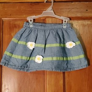 Gymboree Blue/Gray Skirt Size 5T
